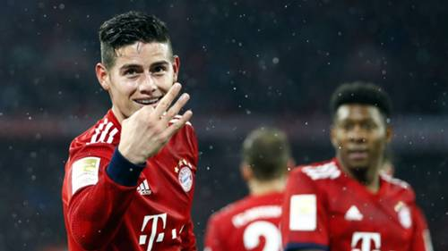 James Rodriguez Bayern Munich Mainz Bundesliga 2019