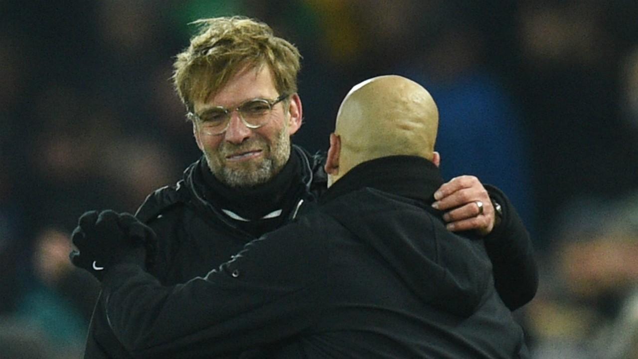 Jurgen Klopp Pep Guardiola Liverpool Manchester City