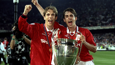 Gary Neville Phil Neville Manchester United Champions League 2018-19