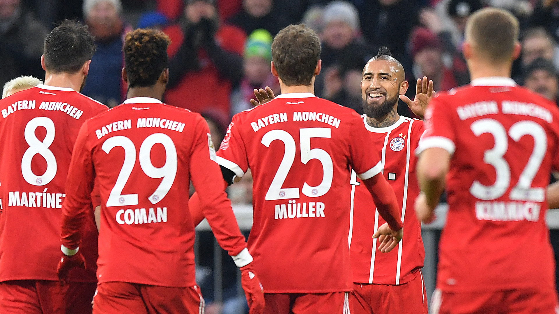 Vidal FC Bayern Hannover 96 Bundesliga 20171202