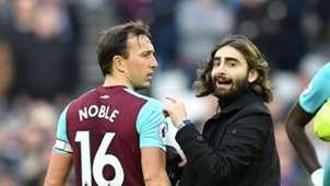 Mark Noble West Ham Pitch Invader 10032018