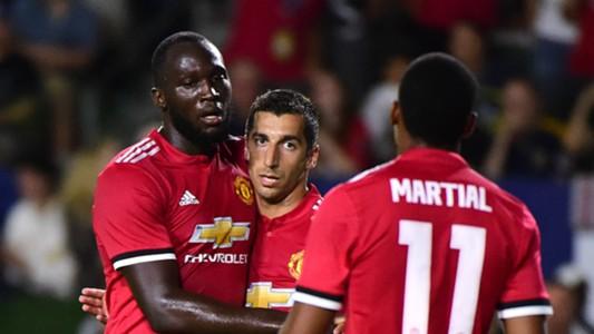 Romelu Lukaku Henrikh Mkhitaryan Anthony Martial Manchester United