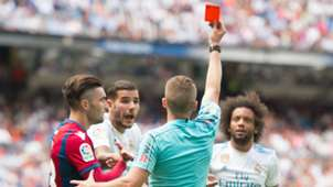 Marcelo red card Real Madrid