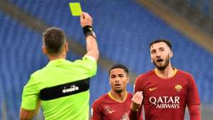 Cristante yellow card Serie A Roma