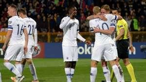 Finland celebrating Armenia Finland Euro 2020