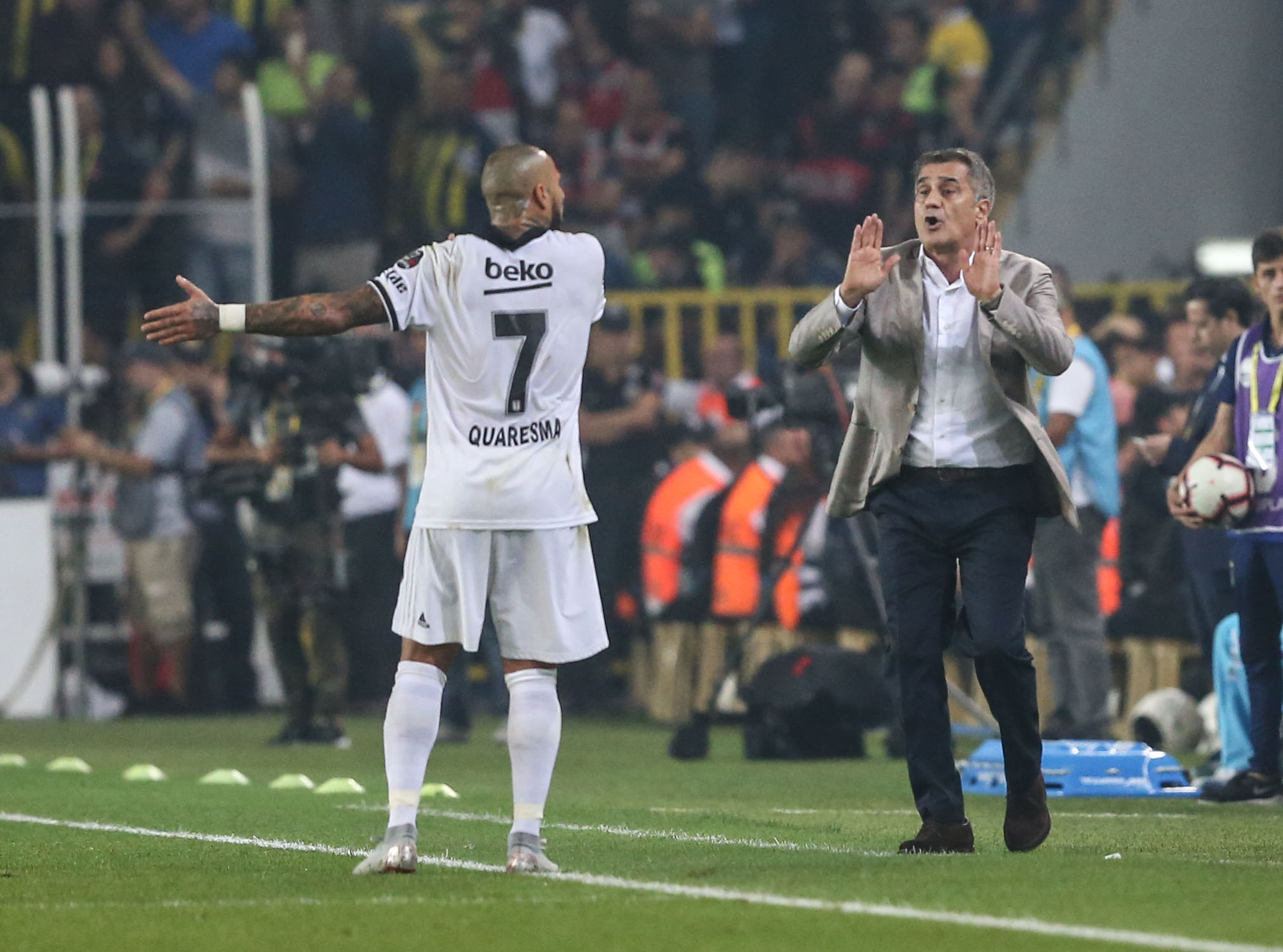 Ricardo Quaresma Senol Gunes Fenerbahce Besiktas Super Lig 09/24/18