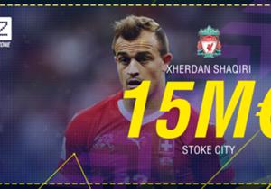 Xherdan Shaqiri - De Stoke City à Liverpool - 15 M€ - 4 ans