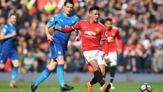 290418 Manchester United Arsenal Alexis Sánchez Granit Xhaka