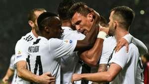 Juventus celebrating Milan Serie A