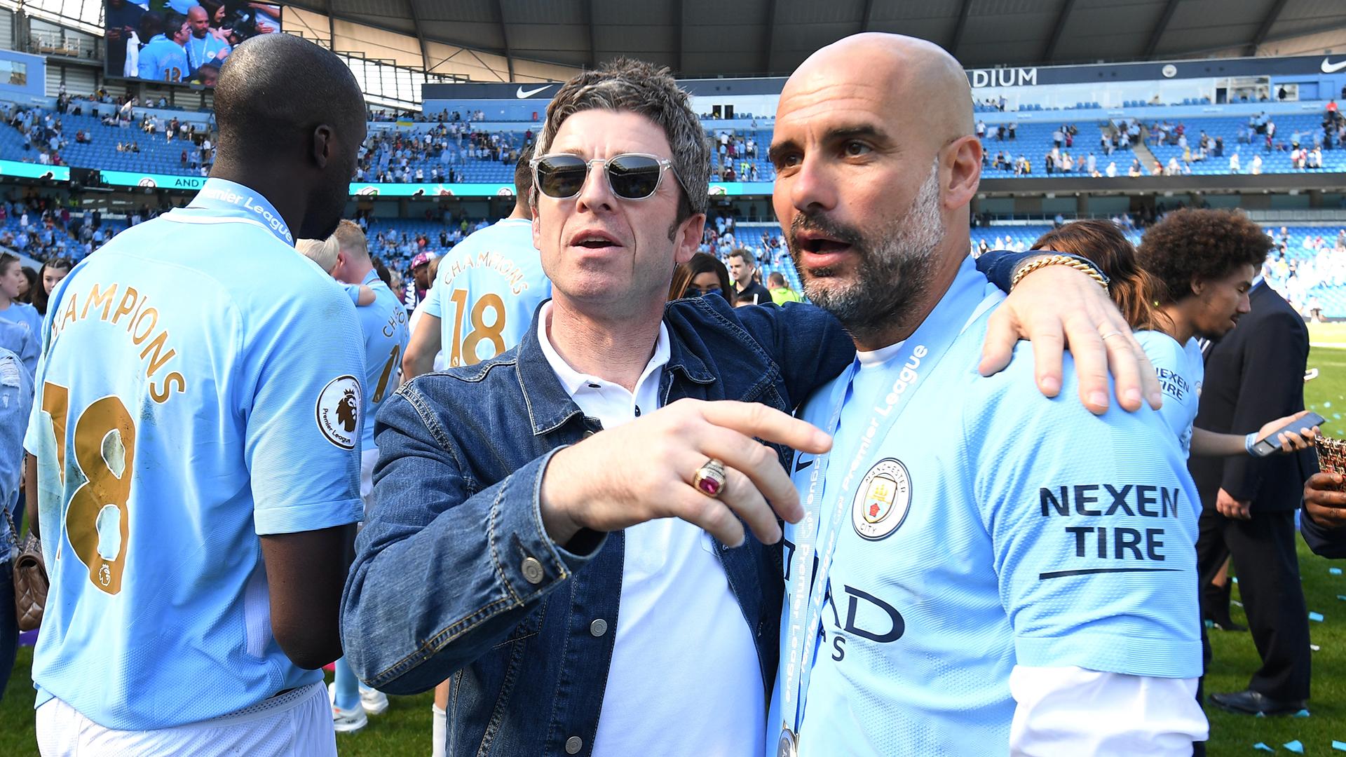 Pep Guardiola Noel Gallagher Manchester City Premier League Oasis