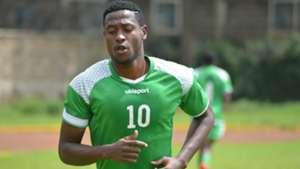 Harambee Stars and Kariobangi striker Masoud Juma.