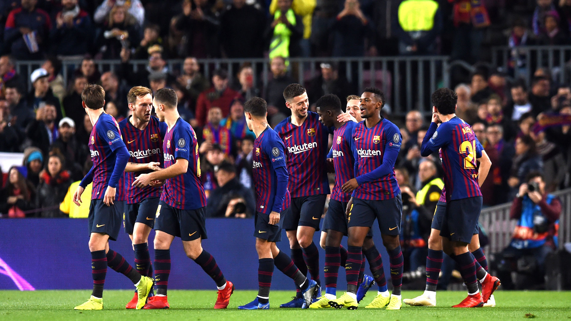 FC Barcelona celebration Champions League 11122018