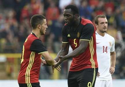 Eden Hazard Romelu Lukaku Belgium Norway 05062016
