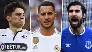 Daniel James Eden Hazard Andre Gomes