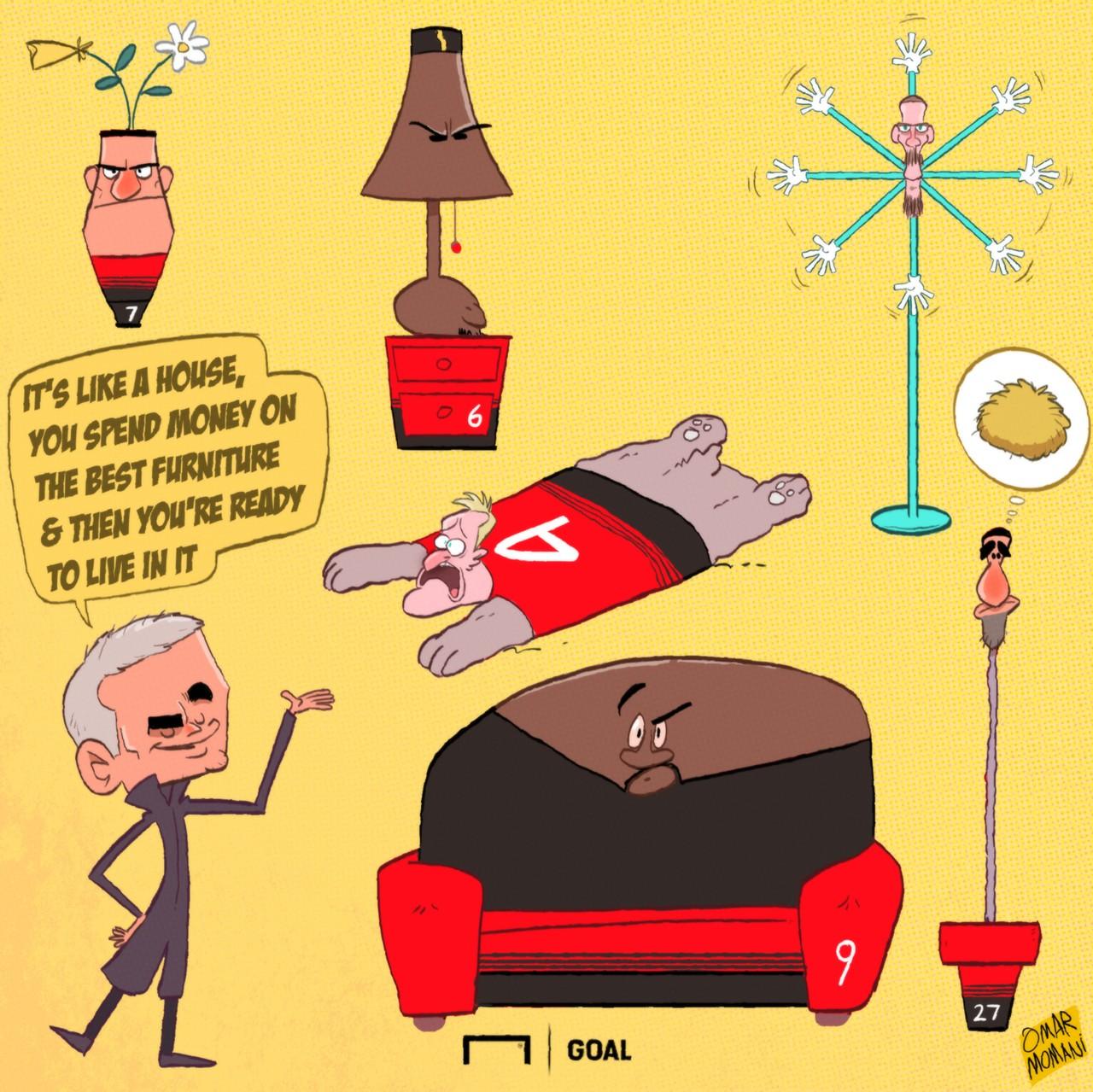 Man Utd Furniture Cartoon