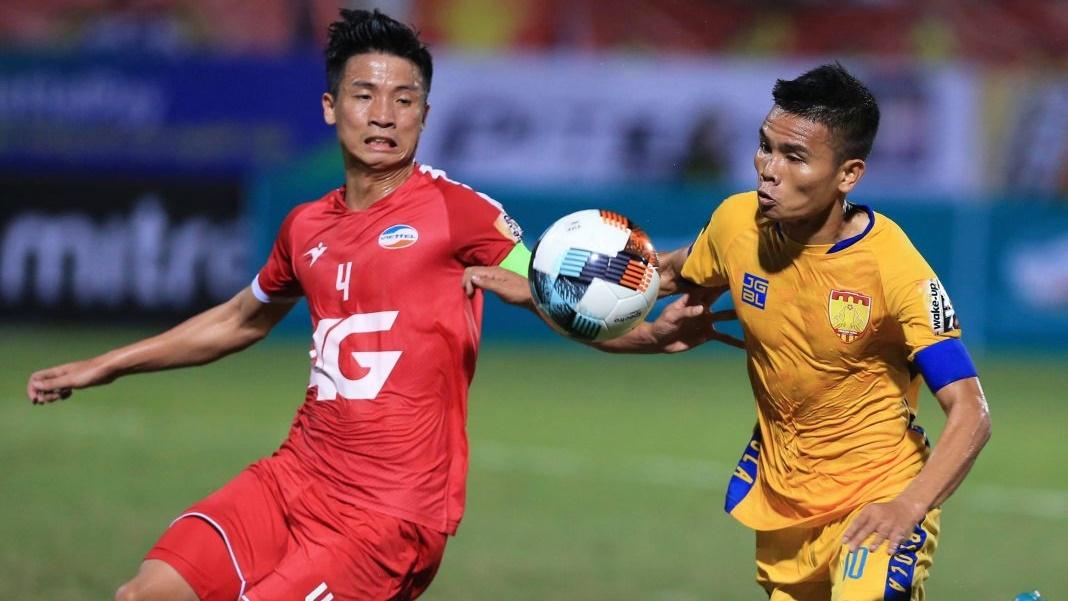 Bui Tien Dung vs Le Van Thang Viettel FC vs Thanh Hoa FC V.League 2019