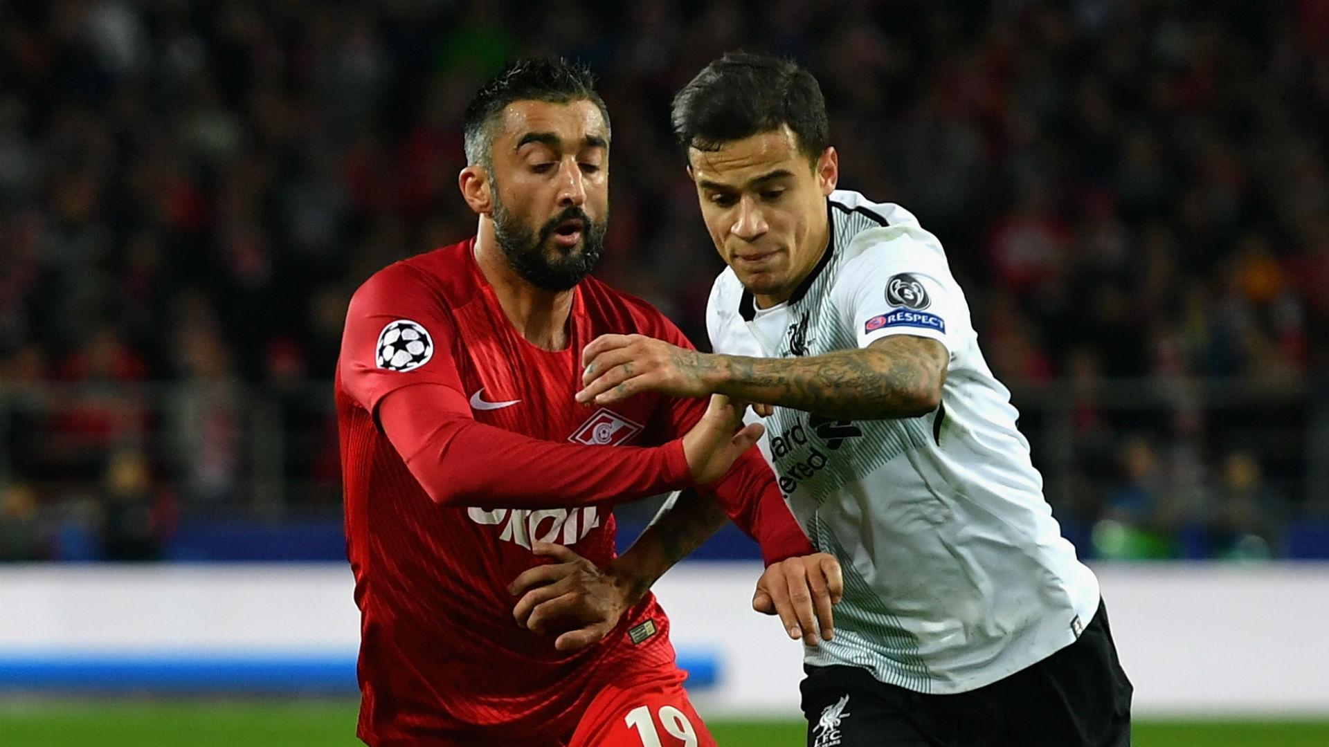 Aleksandr Samedov Spartak Moscow Philippe Coutinho Liverpool