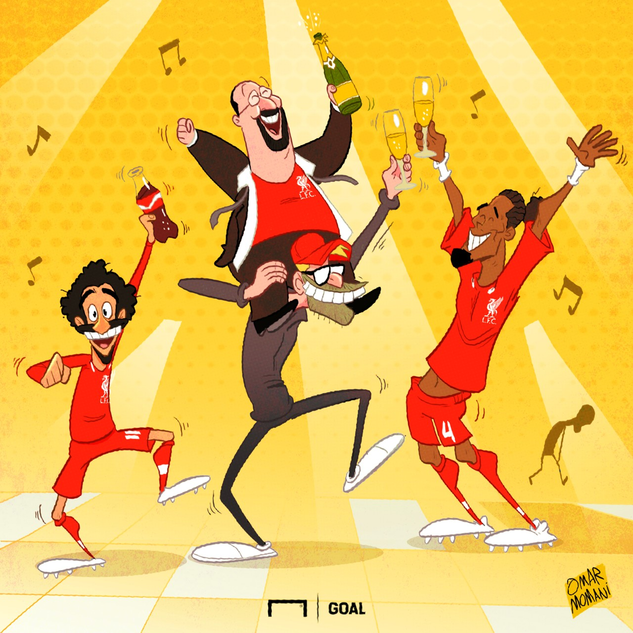 Cartoon - Liverpool & Benitez