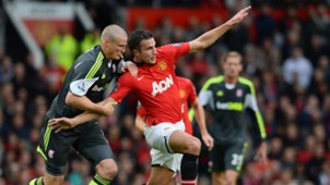 Van Persie vs Stoke City Manchester United