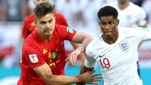 Leander Dendoncker Marcus Rashford Belgium England World Cup