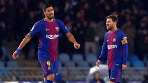 Luis Suarez Lionel Messi Real Sociedad Barcelona LaLiga 14012018