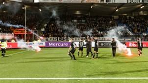 Willem II - NAC Breda, vuurwerk