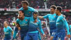 Arsenal celebrate vs Man Utd