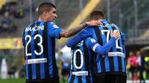 Atalanta celebrating Chievo Serie A