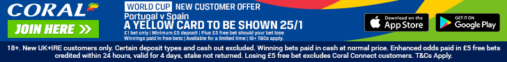 Coral New customer offer SPain v Portugal footer