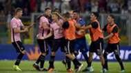 Palermo players celebrating Palermo Frosinone Serie B
