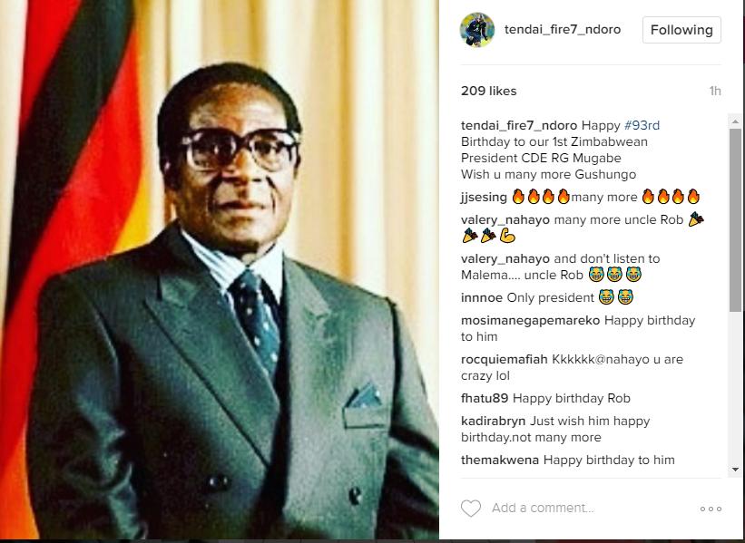 Ndoro wishes Mugabe happy bday