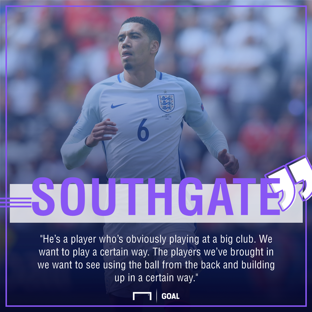 Gareth Southgate Chris Smalling England omission