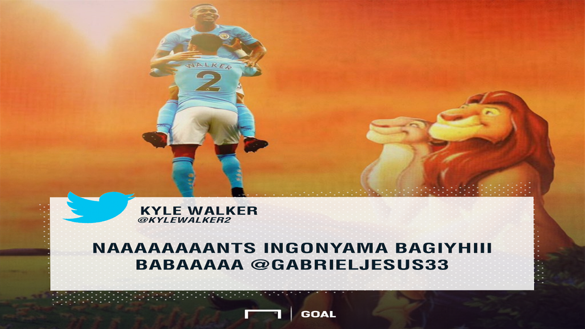 Kyle Walker Tweet