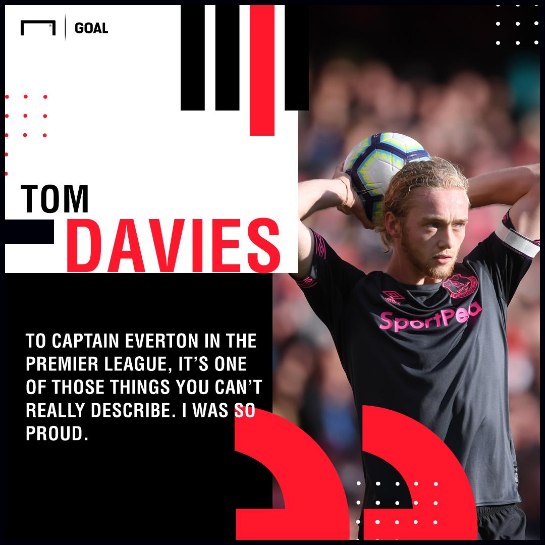 Tom Davies on being made Everton captain