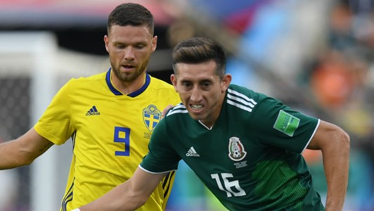 Marcus Berg Sweden Hector Herrera Mexico World Cup
