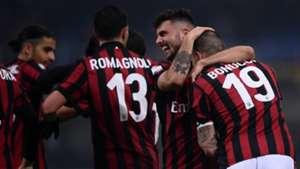 Milan celebrating Milan Crotone Serie A