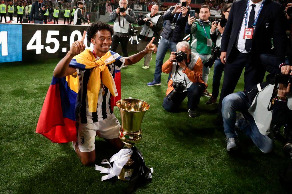 Juan Guillermo Cuadrado campeón Coppa Italia
