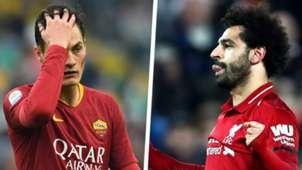 Patrik Schick Mohamed Salah Roma Liverpool