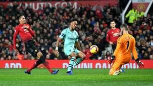 Pierre-Emerick Aubameyang Man Utd vs Arsenal Premier League 2018-19