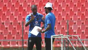 Orlando Pirates assistant coaches Benson Mhlongo and Rhulani Mokwena
