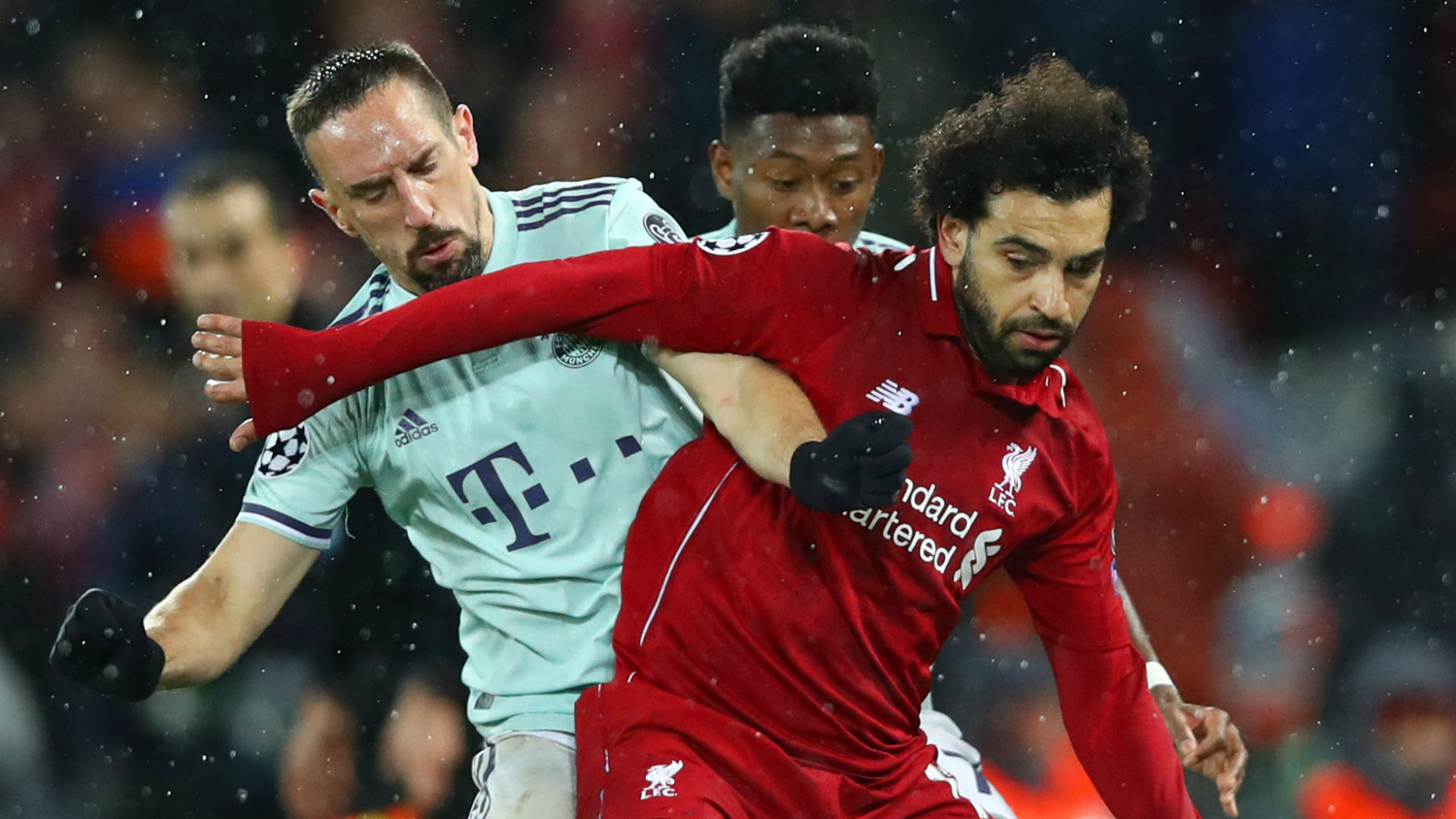 Franck Ribery Mohamed Salah Bayern Munich Liverpool