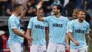 Lazio celebrating vs Sassuolo