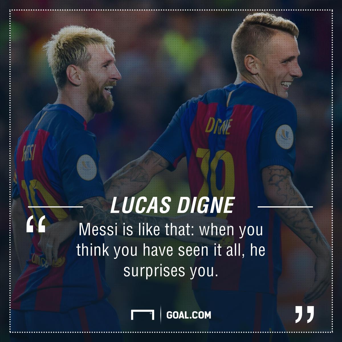 Lucas Digne Lionel Messi GFX