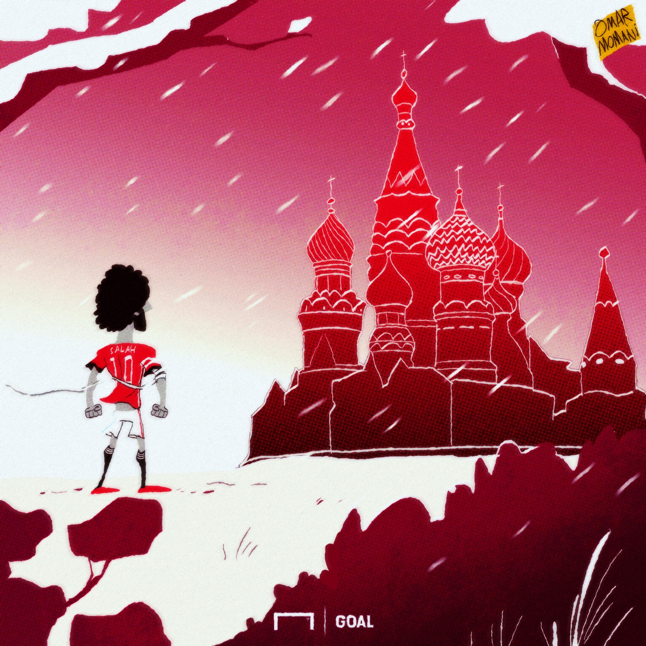 Mohamed Salah World Cup Cartoon