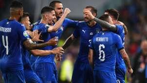 Italy celebrating Italy Bosnia Euro 2020