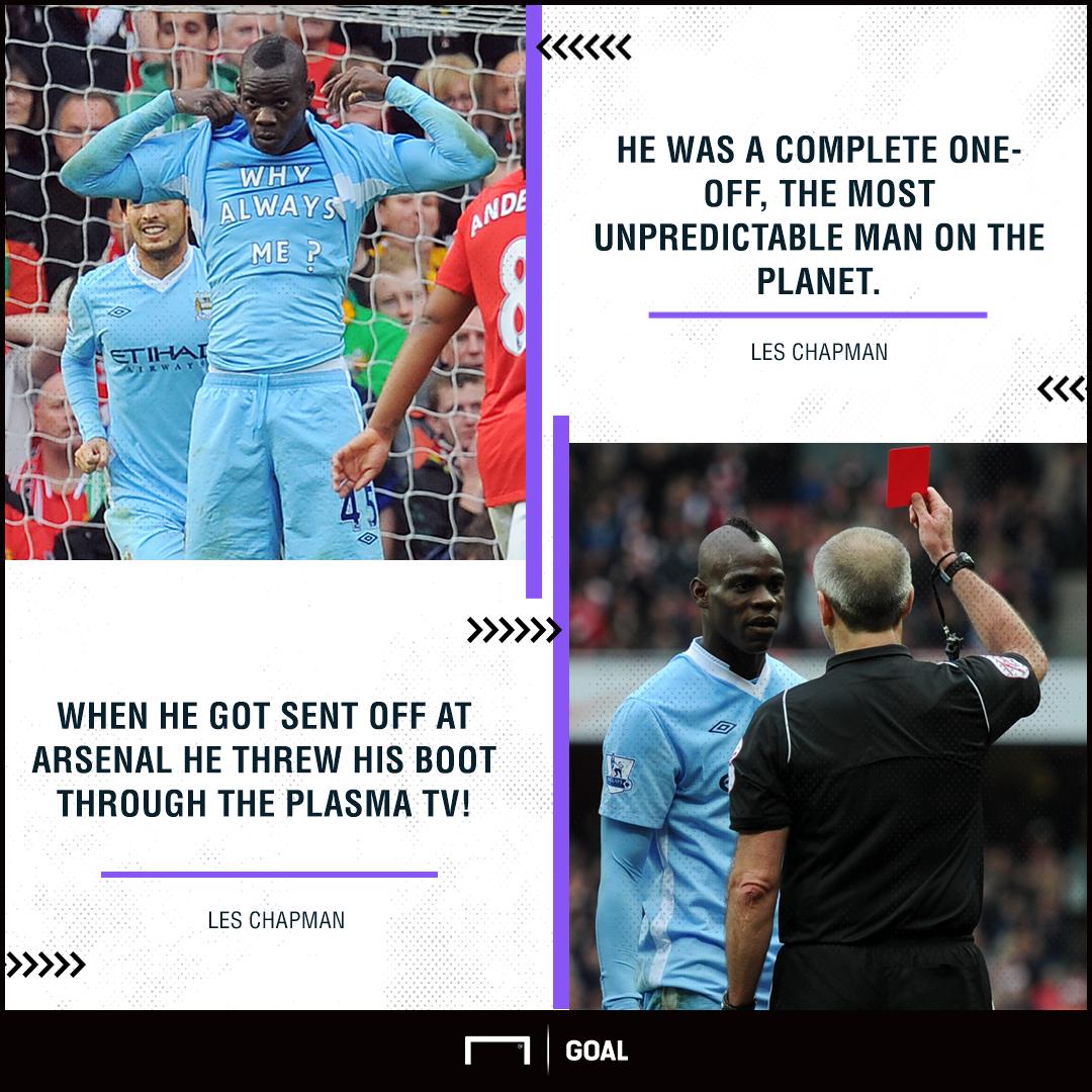Mario Balotelli Les Chapman Manchester City boot plasma