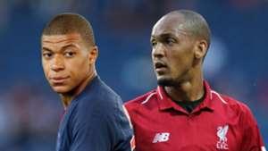 Kylian Mbappe Fabinho PSG Liverpool