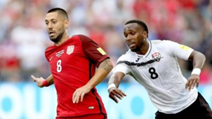 Clint Dempsey Khaleem Hyland USA Trinidad and Tobago