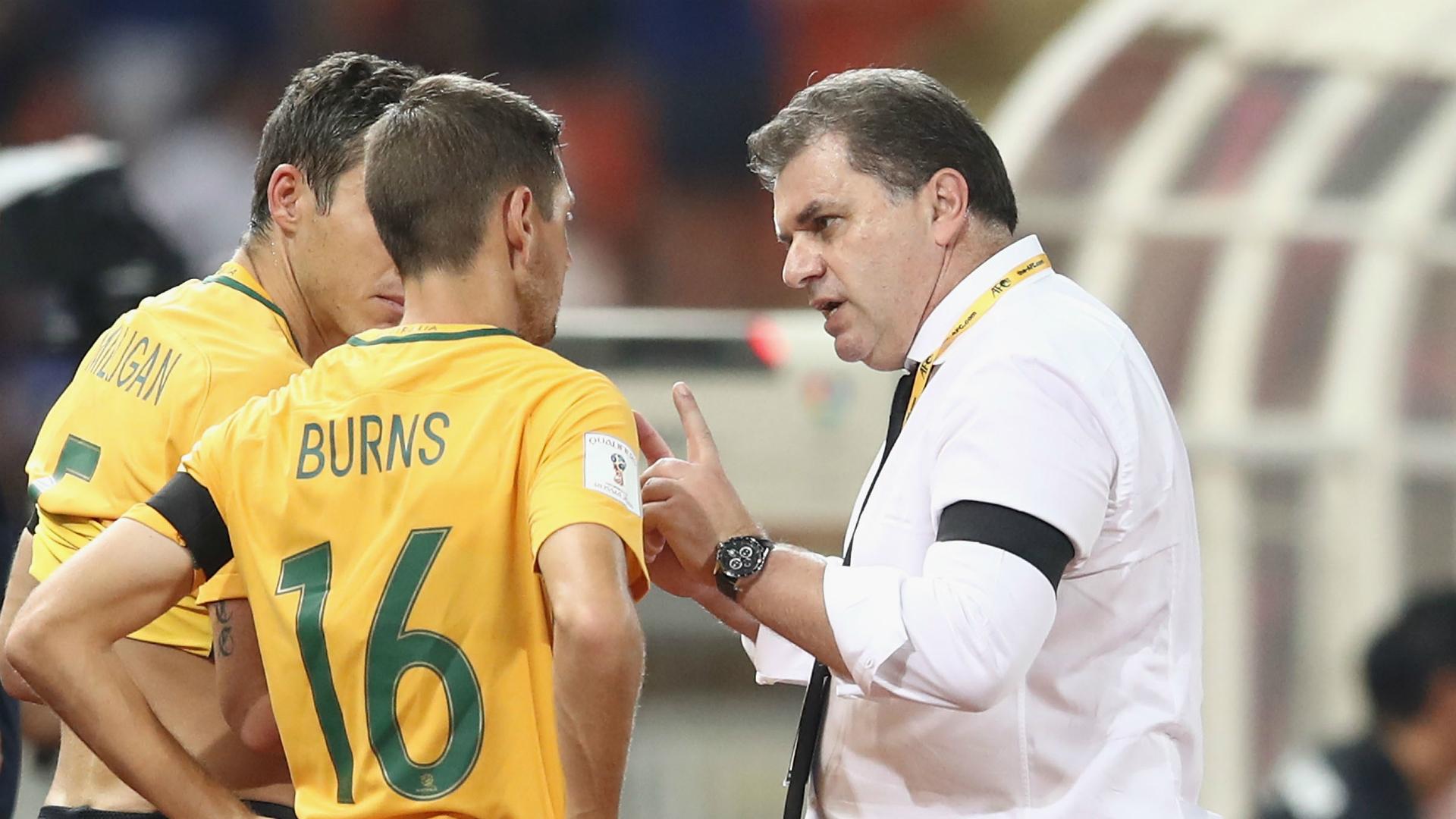 Nathan Burns/Ange Postecoglou Socceroos