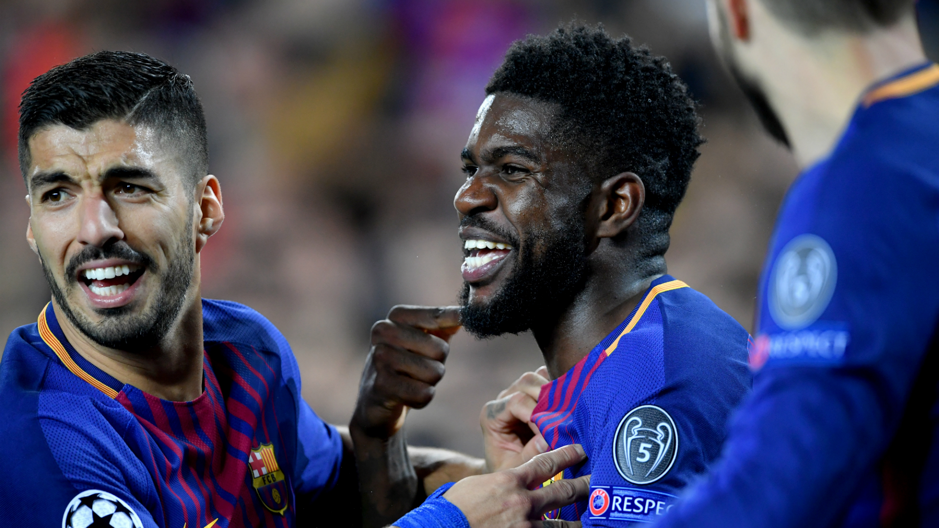 Samuel Umtiti Luis Suarez Barcelona Roma
